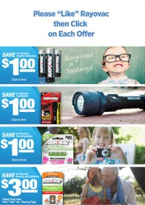 Rayovac Facebook Coupons