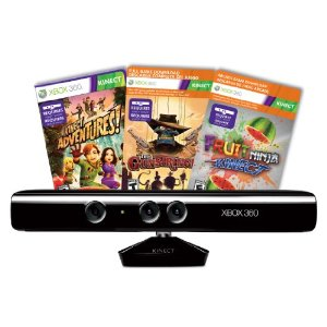 Kinect Sensor with Kinect Adventures and Gunstringer Token Code $99.99