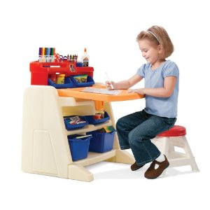 Step 2 Flip And Doodle Easel Desk With Stool 47 54 Shipped
