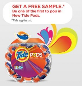 new tide pods laundry detergent free sample