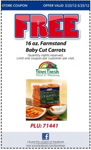 Freebie Friday: Farmstand Baby Cut Carrots, Sears + More!