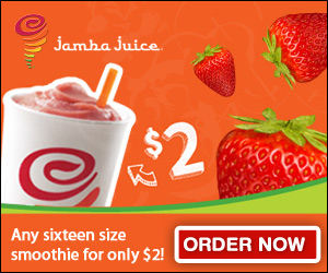 Limit one offer per person. Coupon cannot be used in combination with any other offer, coupon or discount and may not be sold, copied or altered in any way. Only original coupons will be honored. Void if reproduced, transferred, or assigned. Not valid for Jamba Juice employees. Cash value 1/ cents.