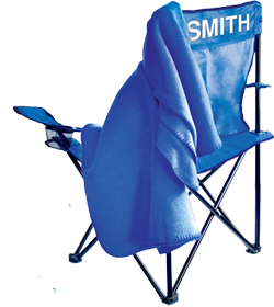 Free folding chair and fleece blanket from P&G