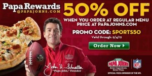 Papa johns coupons august 2019