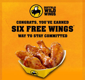 graphic relating to Buffalo Wild Wings Printable Coupons named 6 Cost-free Wings at Buffalo Wild Wings - Offer Searching for Mother