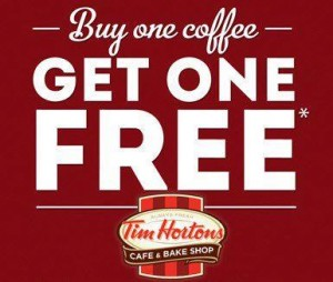 picture about Tim Hortons Coupons Printable named B1G1 Totally free Espresso at Tim Hortons upon 9/29