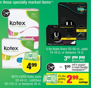 Kotex coupons printable