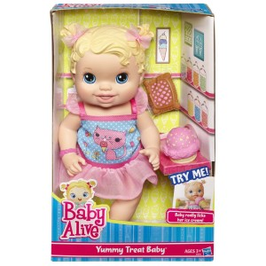 picture about Alive Printable Coupon named Kid Alive Yummy Take care of Little one Doll $12.99 at Emphasis