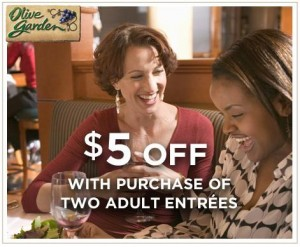 Olive Garden 5 2 Entrees Printable Coupon