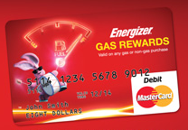Energizer Gas Card Promotion