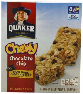 Quaker Chewy Chocolate Chip Granola Bars $1.40/box