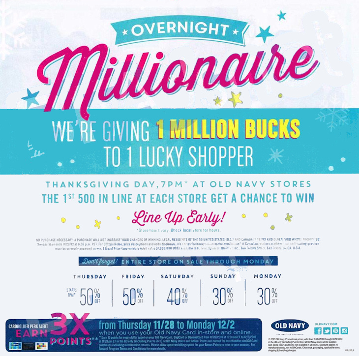 Old navy million dollar contest