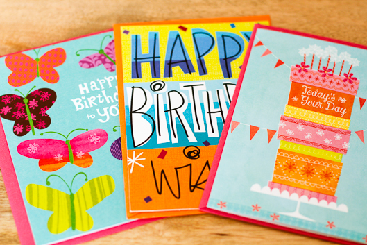 hallmark cards for . at walmart, Birthday card