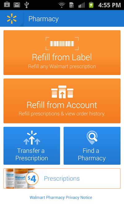 new walmart mobile pharmacy app