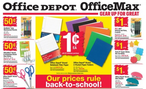 Office depot back to school deals starts 8 9 for Deals by depot