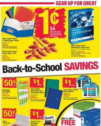 Office depot back to school deals starts 8 23 for Deals by depot