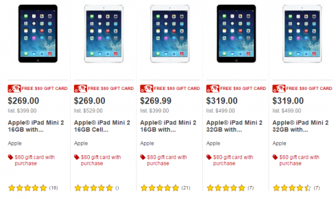 Apple iPad Mini $189 after Target Gift Card