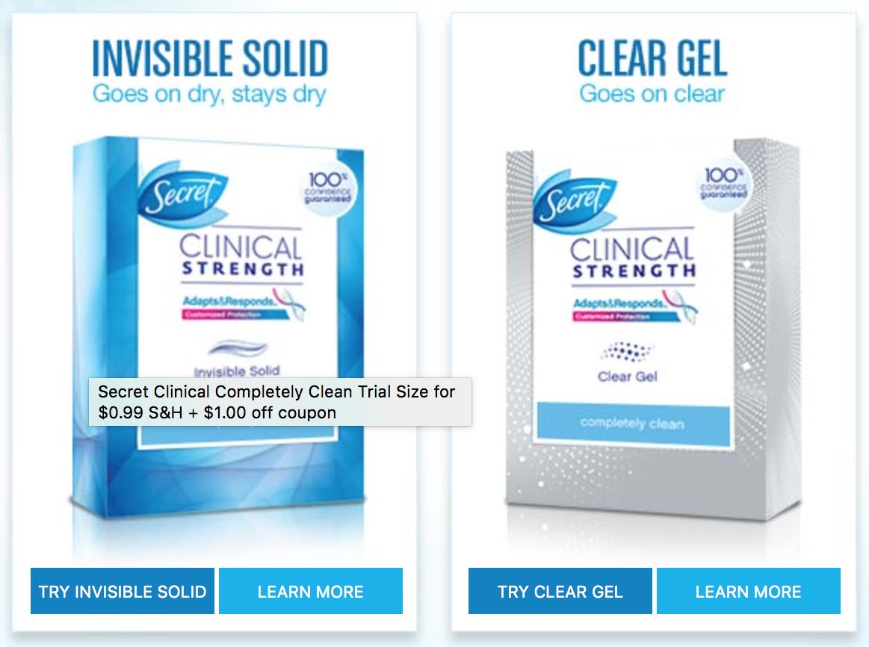 FREE Trial Size Secret Deodorant Sample - Deal Seeking Mom