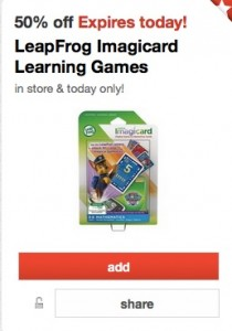 LeapFrog Imagicard Learning Games 50 Off At Target Today Only
