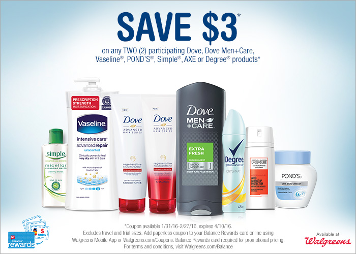 image relating to Dove Printable Coupons named Help save significant upon person treatment with a $3 coupon basically at Walgreens!