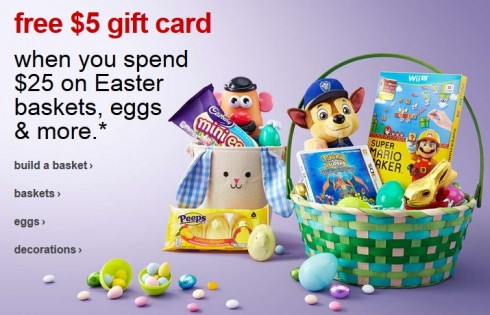 5 target gift card wyb 25 of easter supplies at target negle Gallery