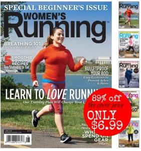 Womens Running Magazine: $6.99 per Year (89% off cover