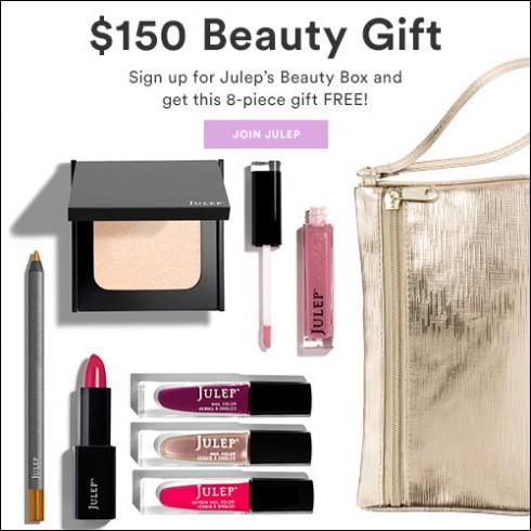 julep maven free 8 pc beauty box a 150 value