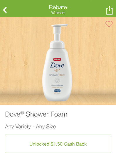 1 50 Off New Dove Shower Foam At Walmart