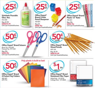 Office depot back to school penny deals glue for for Deals by depot