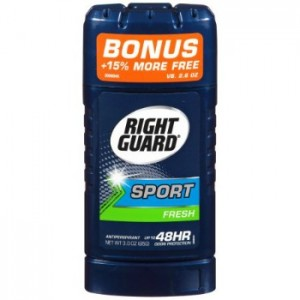 image relating to Right Guard Printable Coupon referred to as Specifically Shield Recreation Deodorant $0.99 at Walmart