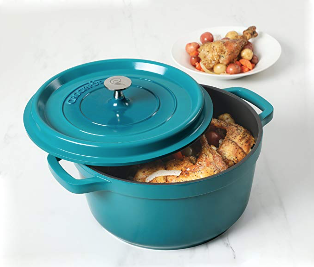 Crock Pot 5 Qt Dutch Oven With Lid Just 28 30 Deal