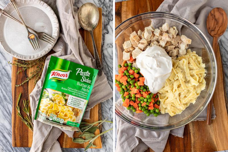 Leftover Turkey Noodle Casserole Ingredients copy
