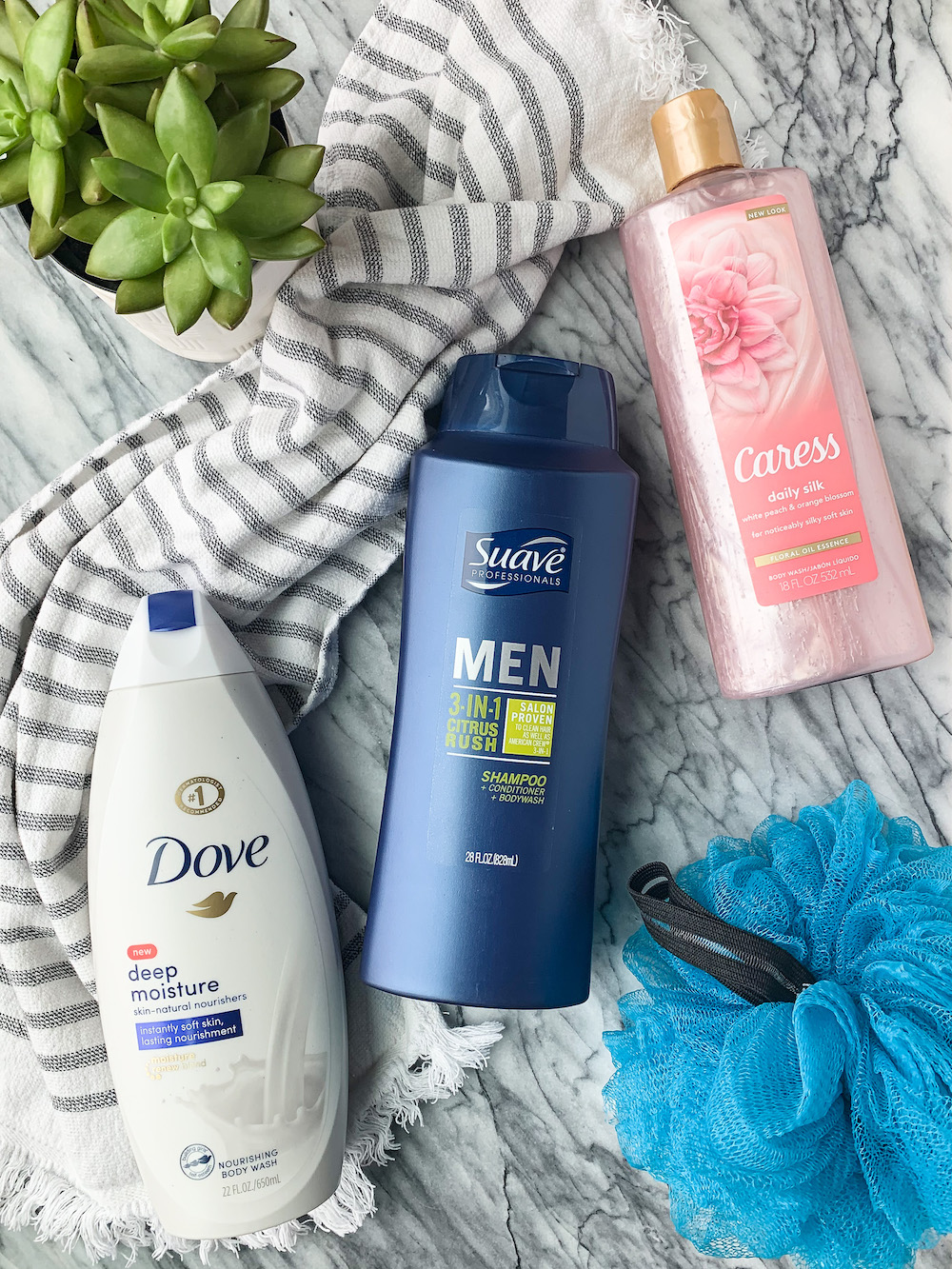Caress Dove and Suave Body Wash