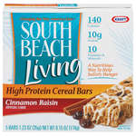 South Beach Living High Protein Cereal Bars