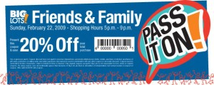 Big Lots 20% off Printable Coupon