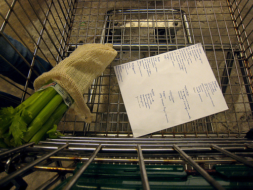 grocery-shopping-list-cart-coupons-organized