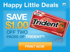 $1 Trident Printable Coupon