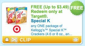 Free Special K Crackers Coupon