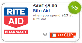 Rite Aid $5 off $25 Coupon