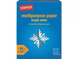 Staples $2 Copy Paper