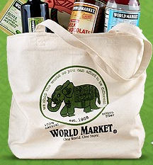 World Market Free Canvas Tote