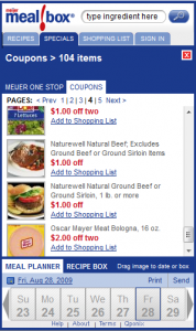 Naturewell Beef Coupons at Meijer