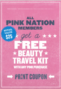 Victoria's Secret Pink Nation FREE Beauty Travel Kit