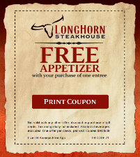 longhorn coupon