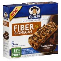 FREE Quaker Fiber & Omega-3 Granola Bars