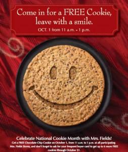 Mrs. Fields FREE Cookie