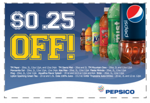 graphic relating to Pepsi Printable Coupons called Refreshing Pepsi, Dole, Sobe Lifewater Printable Discount codes - Package deal
