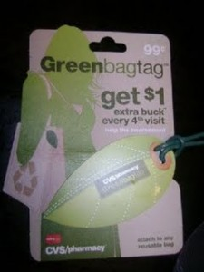 CVS Green Bag Tag