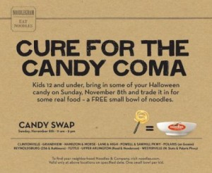 Noodles & Company Candy Swap