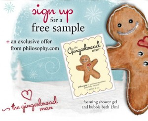 Philosophy Gingerbread Man Shower Gel Free Sample
